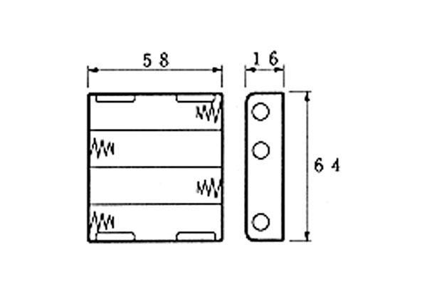 batterijhouder voor 4 x aa cel voor batterijclips bh341b rutten elektroshop. Black Bedroom Furniture Sets. Home Design Ideas