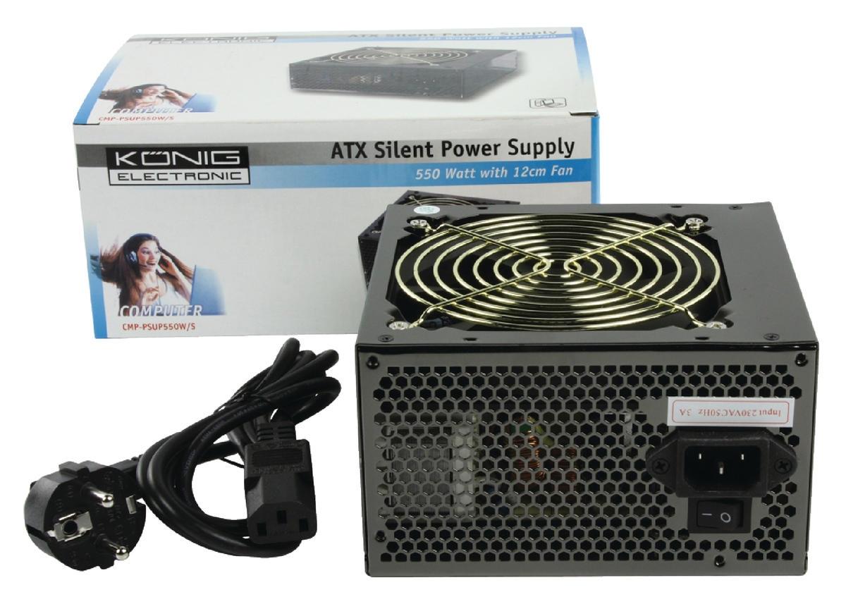 Netvoeding PC 550 W Stille Ventilator 12 cm (CMP-PSUP550W/S ...