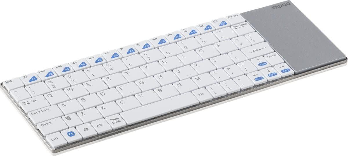 Rapoo E2700 Draadloos Touch Toetsenbord / Qwerty / Wit
