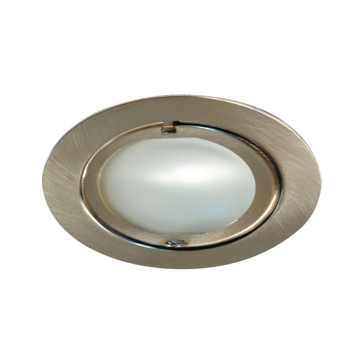 meubelinbouwspot metaal geborsteld incl 12v led lamp 12w g4 fitting
