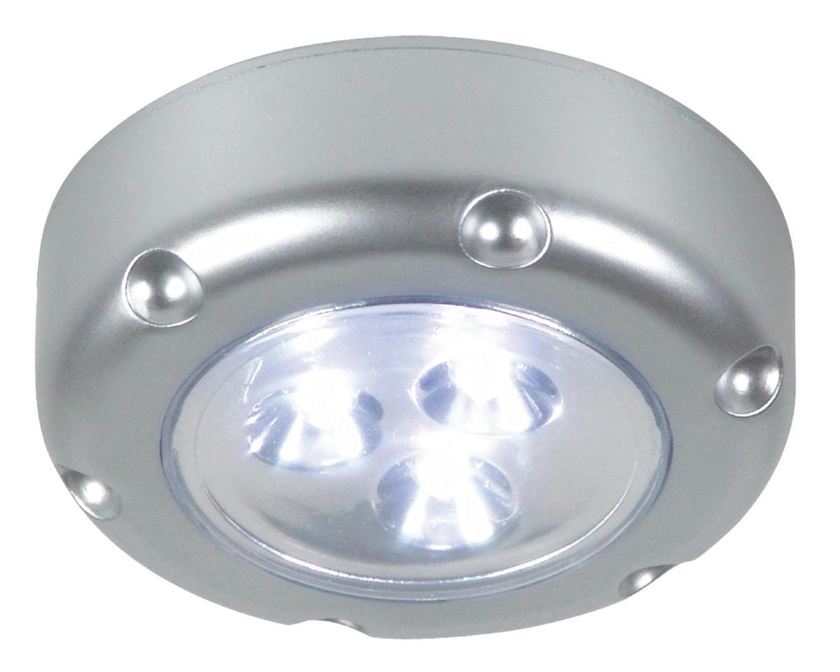 Zelfklevende Led Lampen : Led lamp met druktoets zilver ra rutten elektroshop