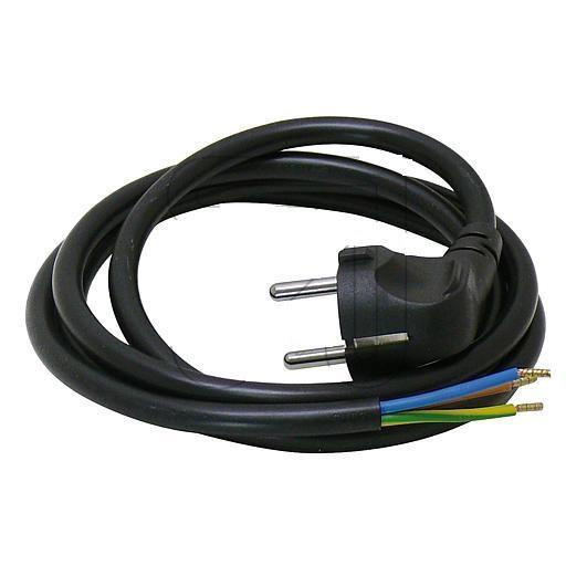 Super Zwart netsnoer met aangegoten stekker 1.5 meter VMVL 3x1,5mm² UL45