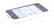 21606 Mobiparts Hybrid Bumper Case Apple iPhone 4/4S White/Grey