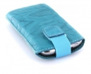 24008 Mobiparts Uni Pouch SMOKE Size M Turquoise