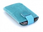24017 Mobiparts Uni Pouch SMOKE Size S Turquoise