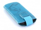 24035 Mobiparts Uni Pouch SMOKE Size XS Turquoise