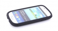 24573 Mobiparts Siliconen Case Samsung i8190 Galaxy S III Mini Black