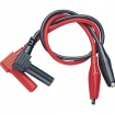 TL70 Test Leads with Crocodile Clips, ø 4 mm Safety Type ø 4 mm PU=2 ST