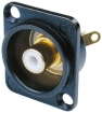 NTR-NF2D-B-9 Cinch panel socket Zwart Wit