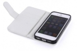 23790 Mobiparts PU Wallet Case iPhone 5 / SE White