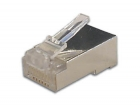 8P8CRS/B MODULAIRE PLUG RJ45 8P8C VOOR RONDE AFGESCHERMDE KABELS, 10 st. IN BLISTER