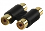 AC-027GOLD Stereo-Audio-Adapter 2x RCA Female - 2x RCA Female Zwart