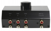 ASWITCH-3 Analoge Audio Schakelaar 3x (2x RCA Female) - 2x RCA Female Zwart