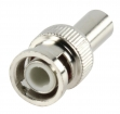 BNC-005 Connector BNC 6.0 mm Male Metaal Zilver