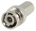 BNC-011 Connector BNC 5.0 mm Male Metaal Zilver