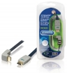 BVL1371 High Speed HDMI kabel met Ethernet HDMI-Connector - HDMI-Connector Haaks 270° 1.00 m Blauw
