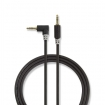 CABP22600AT10 Stereo-Audiokabel | 3,5 mm Male | 3,5 mm Male | Verguld | 1.00 m | Rond