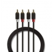 CABP24200AT20 Stereo-Audiokabel | 2x RCA Male | 2x RCA Male | Verguld | 2.00 m | Rond | Antraciet | Polybag