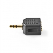 CABW22945AT Stereo-Audioadapter | 3,5 mm Male | 2x 3,5 mm Female | Verguld | Recht | ABS | Antraciet | 1 st. | Window Box