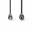 CAGB22050BK100 Stereo-Audiokabel | 3,5 mm Male - 3,5 mm Female | 10 m | Zwart