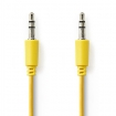 CAGP22000YE10 Stereo-Audiokabel | 3,5 mm Male - 3,5 mm Male | 1,0 m | Geel