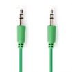 CAGP22005GN10 Stereo-Audiokabel | 3,5 mm Male - 3,5 mm Male | 1,0 m | Groen