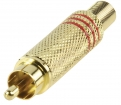 CC-011R Connector RCA Male Metaal Goud/Rood