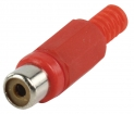 CC-106R Connector RCA Female PVC Rood