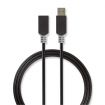 CCBP61010AT20 Kabel USB 3.0 | A male - A female | 2,0 m | Antraciet
