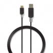 CCBP61600AT10 Kabel USB 3.1 | Type-C male - A male | 1,0 m | Antraciet