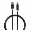 CCBW60100AT30 Kabel USB 2.0 | A male - B male | 3,0 m | Antraciet