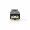 CCBW60901AT USB-Adapter | USB 2.0 | USB Micro-B Male | USB-A Female | Verguld | Recht | PVC | ABS | Antraciet | Window Box