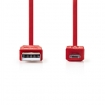 CCGP60410RD10 USB 2.0-Kabel | A Male - Micro-B Male | 1,0 m | Rood
