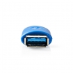 CCGP61902BU USB-Adapter | USB 3.2 Gen 1 | USB-A Female | USB-A Female | Vernikkeld | PVC | Blauw | Polybag