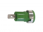 CM17G IEC1010 BINDING POST, FASTON - GREEN