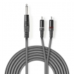 COTH23300GY30 Stereo audiokabel | 6,35 mm male - 2x RCA male | 3,0 m | Grijs