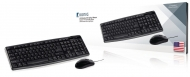 CSKMCU100US Bedrade Muis en Keyboard Standaard USB US International Zwart