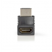CVBW34902AT HDMI™-Adapter | HDMI™ Connector | HDMI™ Female | Verguld | 270° Gehoekt | ABS | Antraciet | 1 st. | Window Box