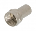 FC-003PROF F-Connector 6.0 mm Male Metaal Zilver