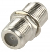FC-018 Coax-Adapter F F-Connector Female - F-Connector Female Zilver