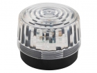 HAA100WN LED-KNIPPERLICHT - TRANSPARANT - 12 VDC -  ø 100 mm