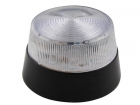 HAA40WN LED-KNIPPERLICHT - TRANSPARANT - 12 VDC -  ø 77 mm