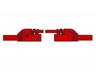 HM0411S25A CONTACT PROTECTED INJECTION-MOULDED MEASURING LEAD 4mm 25cm / RED (MLB-SH/WS 25/1)