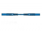 HM0421S100 CONTACT PROTECTED MEASURING LEAD 4mm 100cm / BLUE (MLB/GG-SH 100/1)