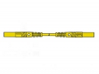 HM0431S100 CONTACT PROTECTED MEASURING LEAD 4mm 100cm / YELLOW (MLB/GG-SH 100/1)