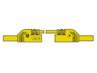 HM0431S25A CONTACT PROTECTED INJECTION-MOULDED MEASURING LEAD 4mm 25cm / YELLOW (MLB-SH/WS 25/1)