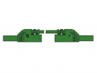 HM0441S25A CONTACT PROTECTED INJECTION-MOULDED MEASURING LEAD 4mm 25cm / GREEN (MLB-SH/WS 25/1)
