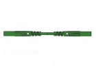 HM0441S50 CONTACT PROTECTED INJECTION-MOULDED MEASURING LEAD 4mm 50cm / GREEN (MLB/GG-SH 50/1)