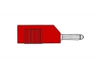 HM1410 MATING CONNECTOR 4mm WITH LONGITUDINAL OR TRANSVERSE CABLE MOUNTING, WITH SCREW / RED (BSB 20K)