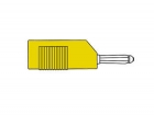 HM1430 MATING CONNECTOR 4mm WITH LONGITUDINAL OR TRANSVERSE CABLE MOUNTING, WITH SCREW / YELLOW (BSB 20K)